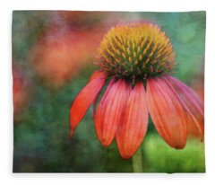 Orange Coneflower 2576 Idp_2 Fleece Blanket