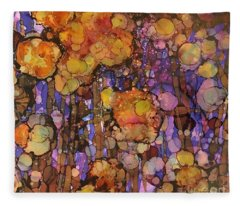 Passion Poppies Fleece Blanket
