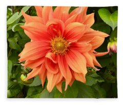 Orange Delight Fleece Blanket