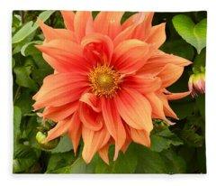 Orange Delight Fleece Blanket