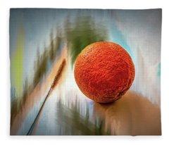 Orange #g4 Fleece Blanket