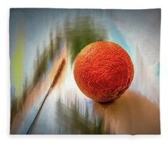 Orange #g4 Fleece Blanket