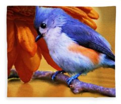 Orange Medley Fleece Blanket