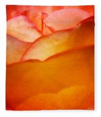 Orange Passion Fleece Blanket