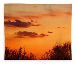Orange Sky At Night Fleece Blanket