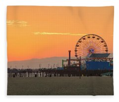 Orange Sunset - Panorama Fleece Blanket