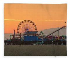 Orange Sunset - Panorama Fleece Blanket
