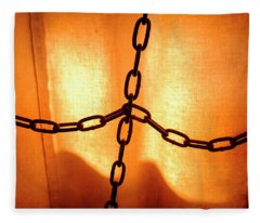 Orange With Black Chains In Seattle Washington Fleece Blanket