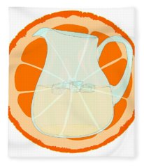 Orange With Slice. Fleece Blanket