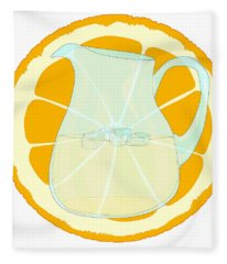 Orangeade With Slice. Fleece Blanket