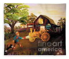 Orchard And Barn Fleece Blanket