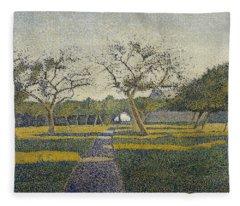 Orchard At La Louviere Fleece Blanket