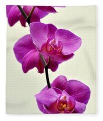 Orchid 26 Fleece Blanket