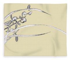 Orchid - 5 Bai-miao In Light Purple Fleece Blanket