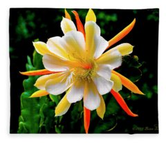 Orchid Cactus Epiphyllum Fleece Blanket