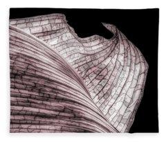 Orchid Leaf Macro Fleece Blanket