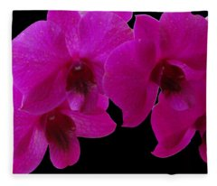 Orchid Song Fleece Blanket