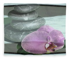 Orchid Tranquility Fleece Blanket