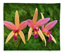 Orchid Trio Fleece Blanket