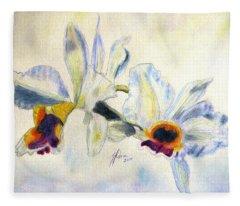 Orchid Waltz Fleece Blanket