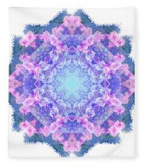 Orchids Mandala Fleece Blanket