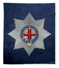Order Of The Garter Star On Blue  Fleece Blanket