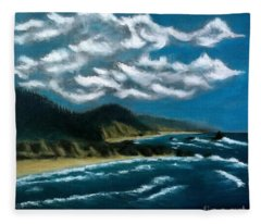Oregon Coast Fleece Blanket