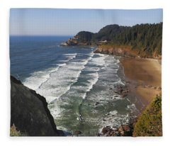 Oregon Coast No 1 Fleece Blanket
