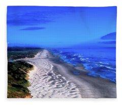 Oregon Coastline Fleece Blanket