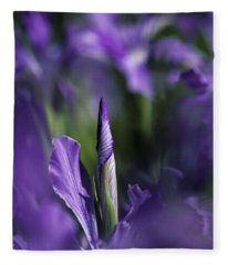 Oregon Flag In Bloom Fleece Blanket