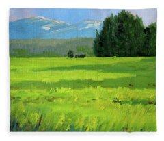 Oregon Meadow Fleece Blanket