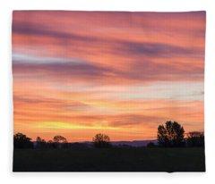 Oregon Sunrise Fleece Blanket