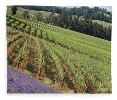 Oregon Vineyard Fleece Blanket