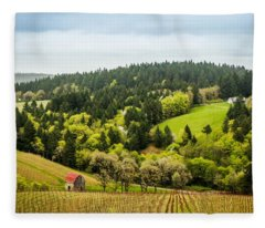Oregon Wine Country Fleece Blanket
