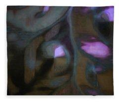 Organic Abstract Fleece Blanket