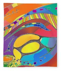 Organic Life Scan Or Cellular Light - Original, Square Fleece Blanket