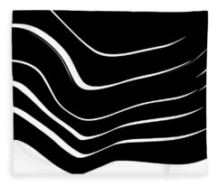 Organic No. 10 Black And White #minimalistic #design #artprints #shoppixels Fleece Blanket