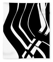 Organic No 6 Black And White Fleece Blanket