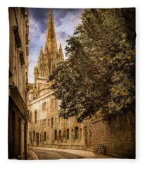 Oxford, England - Oriel Street Fleece Blanket