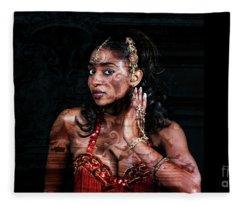Orient Meets Baroque Fleece Blanket