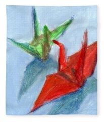 Origami Cranes Fleece Blanket