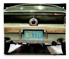 Original Bulitt Mustang Fleece Blanket