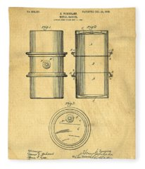 Original Patent For The First Metal Oil Drum Fleece Blanket