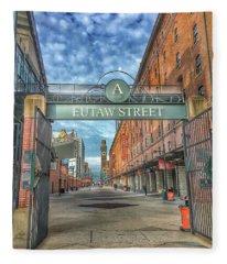 Oriole Park At Camden Yards - Eutaw Street Gate Fleece Blanket