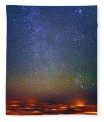 Orion Rising Fleece Blanket