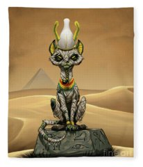 Osiris Egyptian God Fleece Blanket