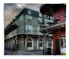 Orleans And Bourbon Fleece Blanket