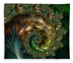 Ornamental Shell Abstract Fleece Blanket