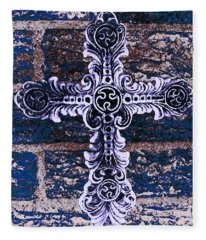 Ornate Cross 2 Fleece Blanket