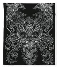 Ornate Dragon Fleece Blanket
